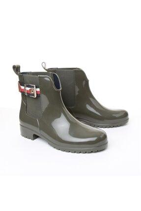 Tommy Hilfiger Kadın Yağmur Botu - Yeşil