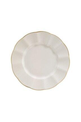 Kütahya Porselen Milena Servis Tabağı Gold File 1 Adet 25 Cm