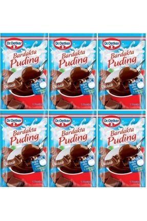 Dr. Oetker Bardakta Puding Çikolatalı 35 Gr 6 Adet