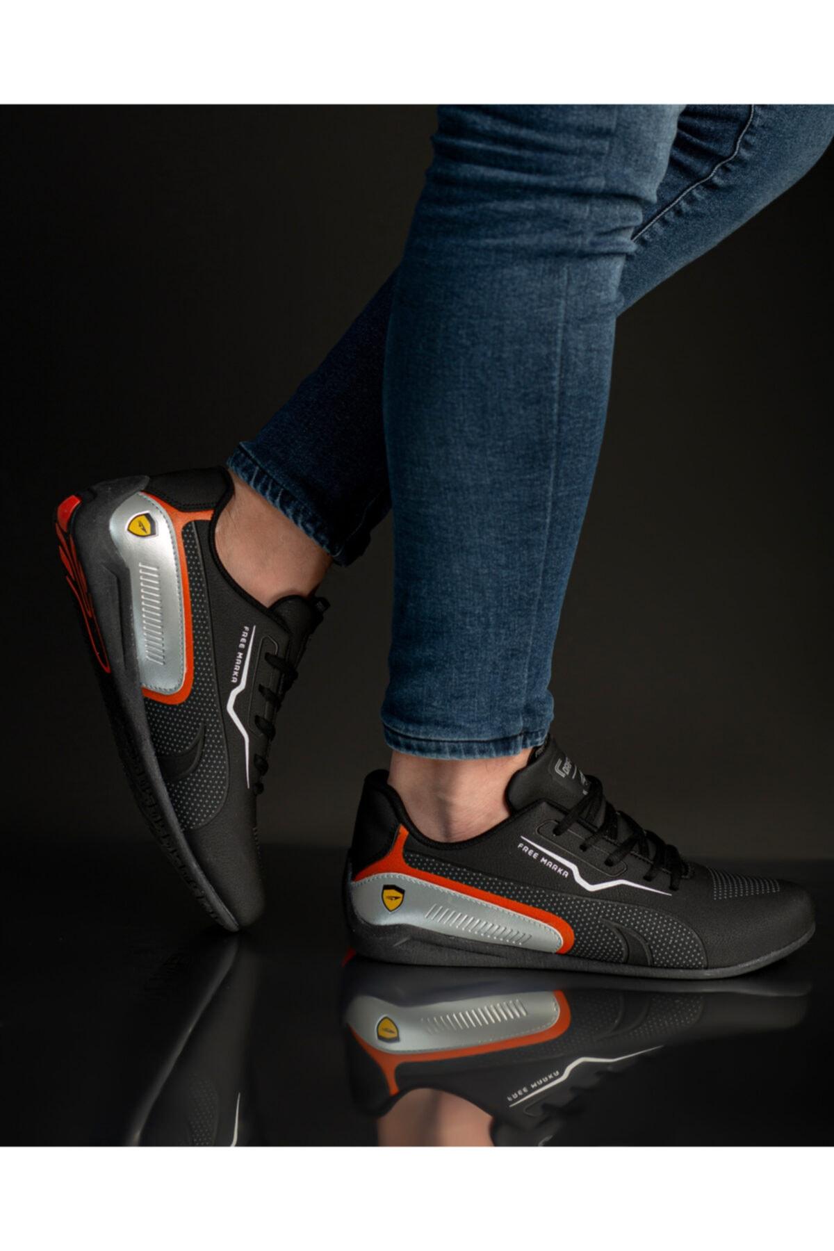 FREE MARKA Erkek Siyah Sneaker 1