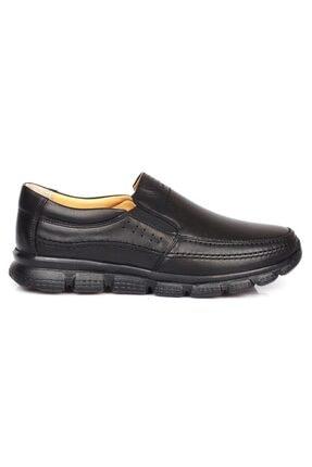 DETECTOR Erkek Siyah Ortopedik Iç Dış Komple Deri Ultra Hafif Günlük  Ayakkabı