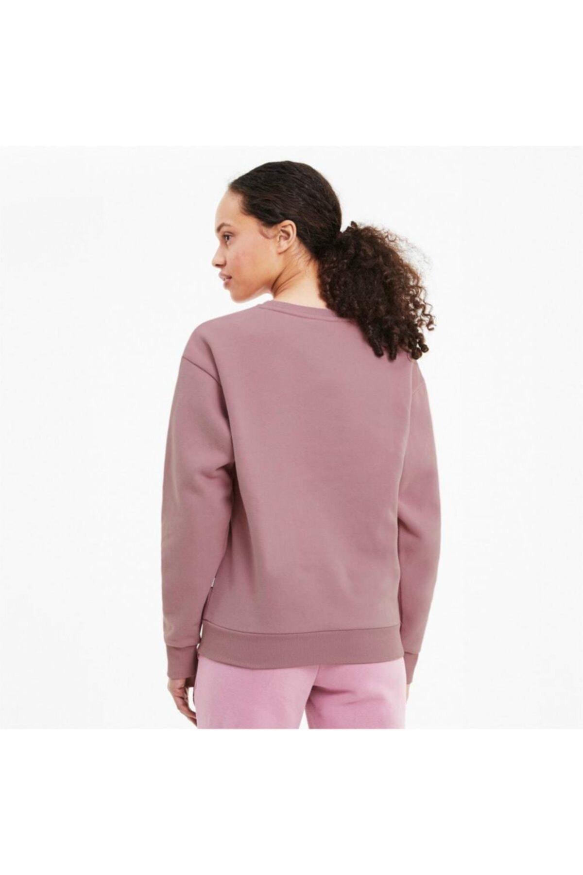 Puma MODERN BASICS CREW FL Pembe Kadın Sweatshirt 101119453 2