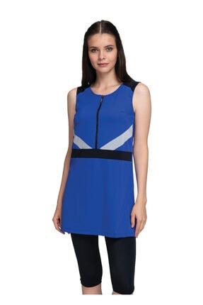 Dagi Kadın Saks Askılı Taytlı Elbiseli Mayo