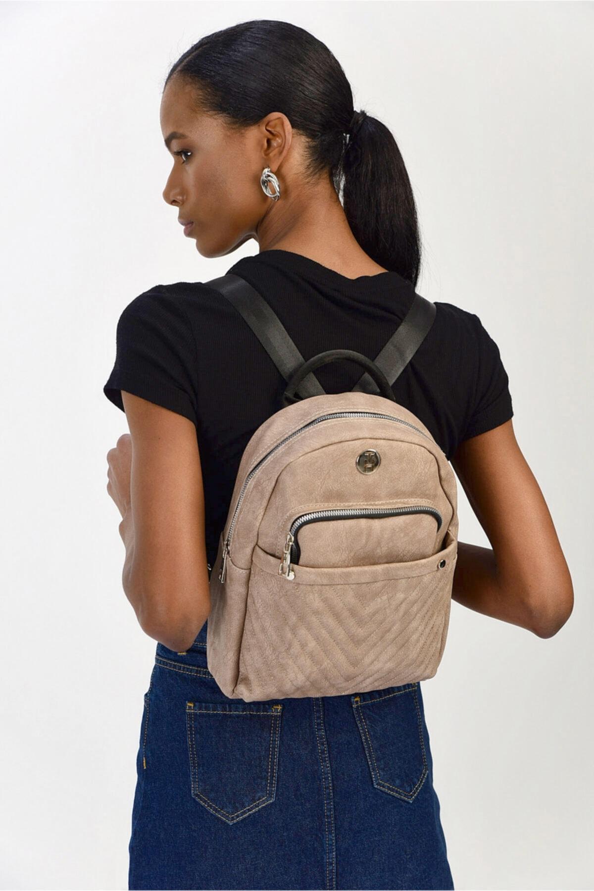 TH Bags Kadın Kahverengi Omuz Çantası Th86000 2
