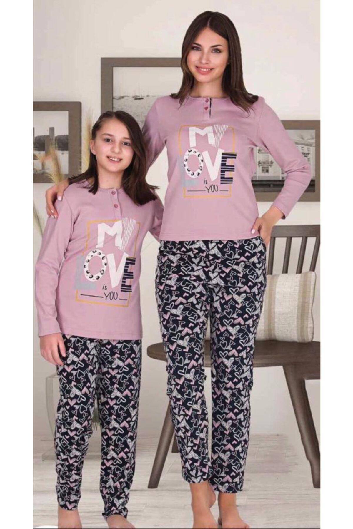 Berland Anne Kız Kombin Pembe Pijama Takım 1