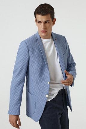 Twn Mavi Renk Erkek  Ceket (Slim Fit)