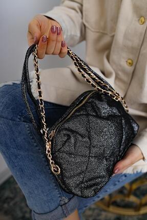 Limoya Bags Kadın Siyah Jasmine Gümüş El ve Omuz Çantası