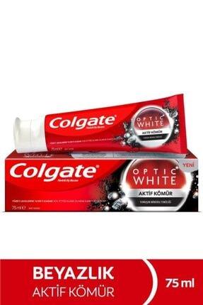 Colgate Optic White Aktif Kömür Yumuşak Mineral Temizliği Beyazlatıcı Diş Macunu 75 ml