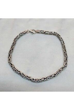 tesbihtane Unisex Gri 925 Ayar Gümüş Bileklik