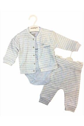 Ciccim Baby Erkek Bebek Mavi Fil Desenli 3'lü Takım