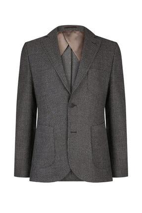 W Collection Erkek Kahverengi Balık Sırtı Air Ceket