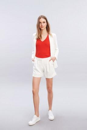 W Collection Kadın Ekru Aller Yakalı Ceket