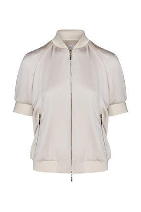 W Collection Kadın Bej Bomber Ceket