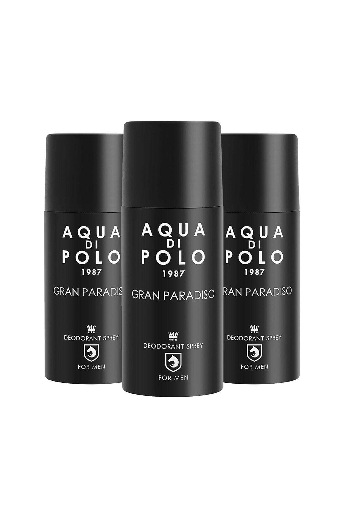 Aqua Di Polo 1987 Aqua Di Polo Gran Paradiso 3'lü Parfümlü Deodorant Seti Stcc004401 1