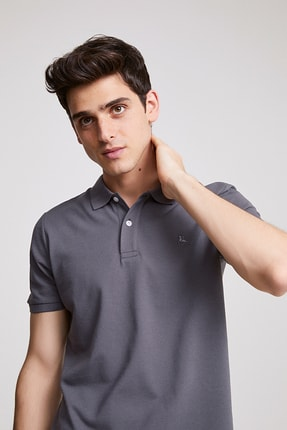 D'S Damat DS Damat T-Shirt (Regular Fit) Antrasit Renk