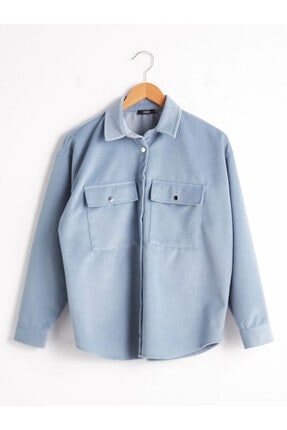 LC Waikiki Kadın Mavi Gömlek Xside Koleksiyonu
