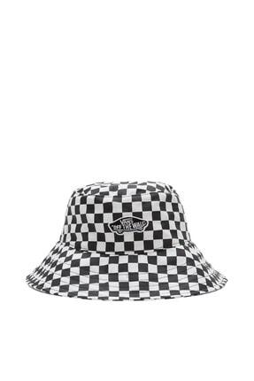 Vans Unisex Siyah Beyaz Level Up Bucket Checkerboard Şapka Vn0a5grg7051