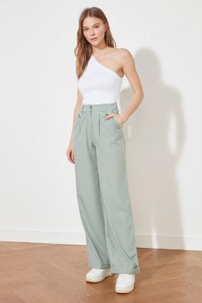 TRENDYOLMİLLA Mint Pileli Pantolon TWOSS21PL0192