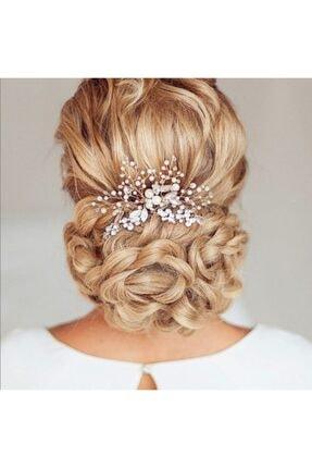 bba new trend Gelin Tacı,gümüş Taraklı Gelin Saç Aksesuarı,nikah Düğün Nisan Gelin Tacı