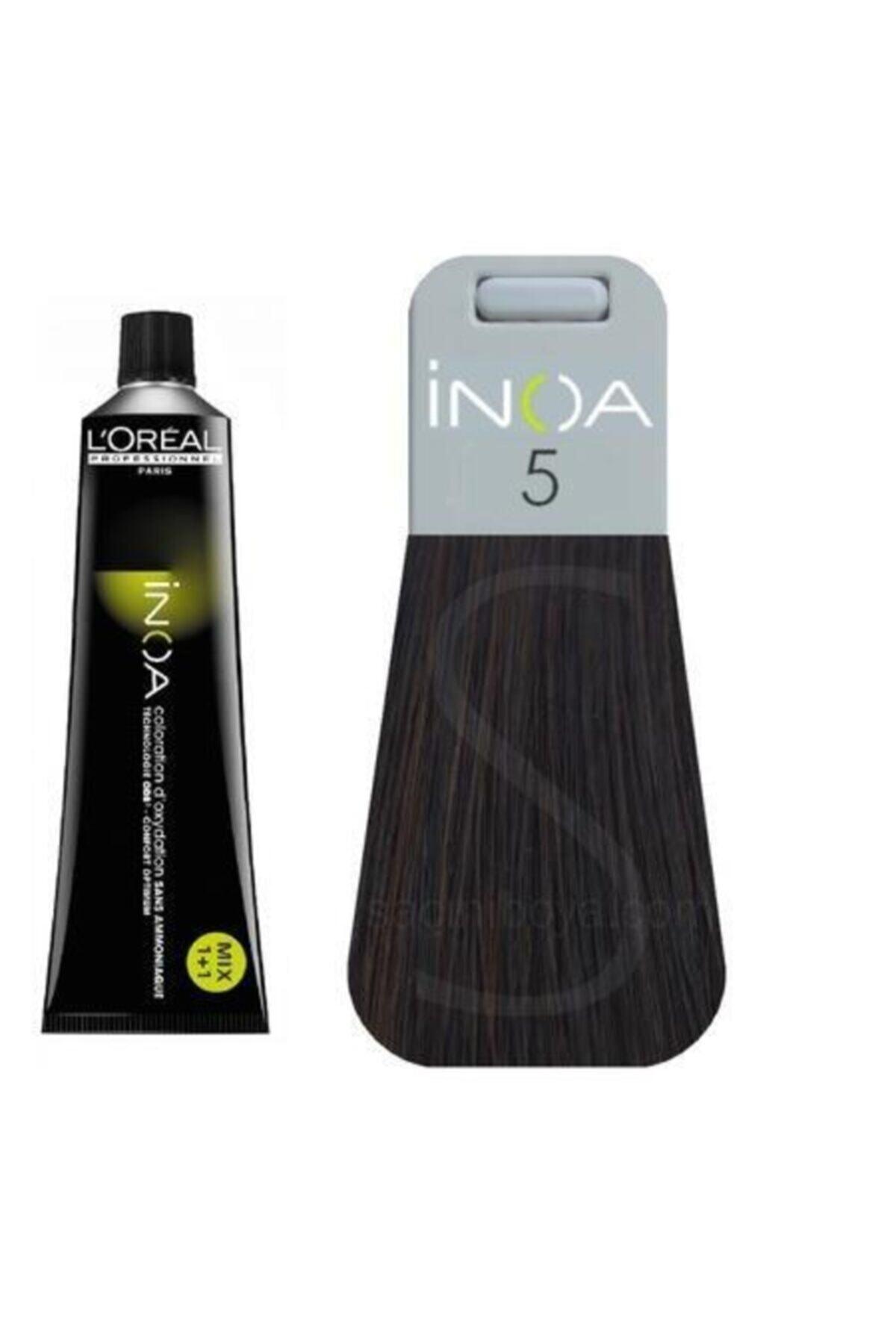 İNOA Inoa Saç Boyası 5 Açık Kestane 3474630413641 (OKSİDANSIZ) 1