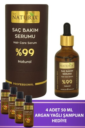 Naturix %99 Natural Saç Dökülme Önleyici Ve Saç Çıkarıcı Serum 50 ml Doğal Bakım Saç Serumu