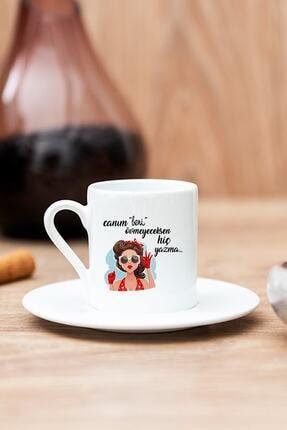 Hediyedukkani Övmeyeceksen Hiç Yazma Beyaz Türk Kahvesi Fincanı
