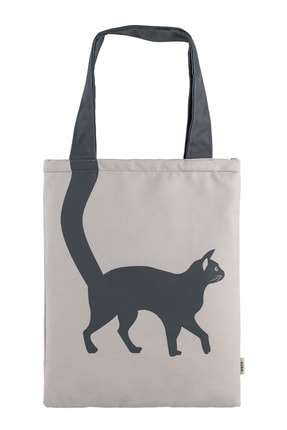Design Vira Gray Cat Tote Bag