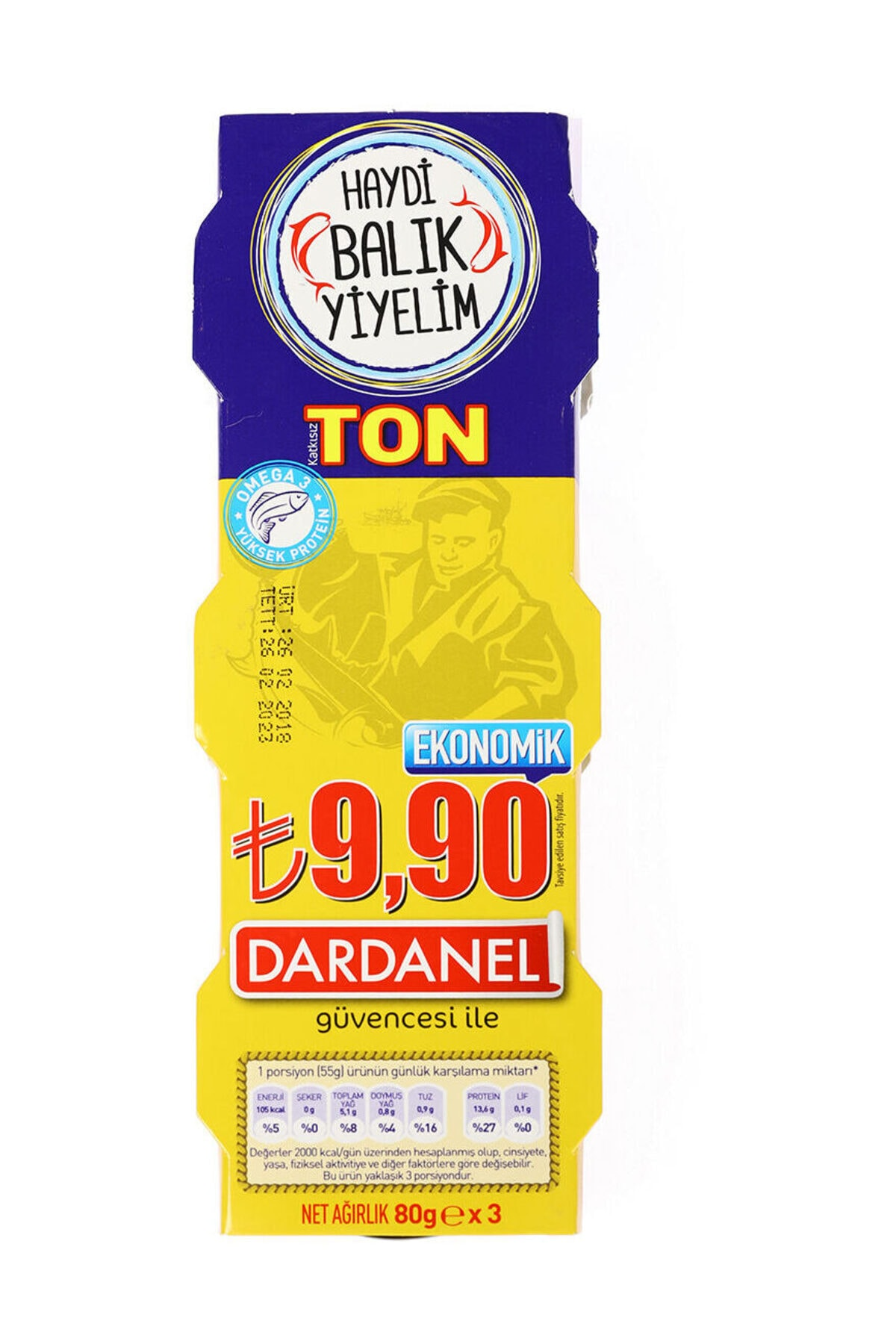 Dardanel Ton Balığı Ekonomik 80 Gr 3'lü 1 Paket 2