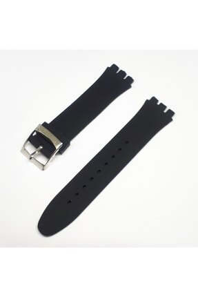Swatch 19mm Uyumlu Siyah Slikon Saat Kordonu