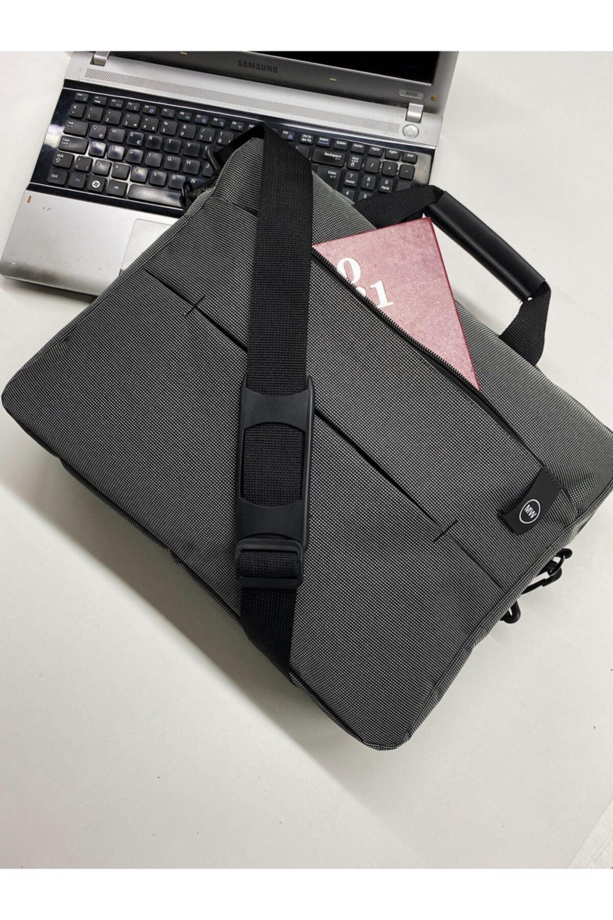 """Moda West Unisex Koyu Gri West Serisi 15.6"""" Inç Evrak Bilgisayar Notebook Laptop Çantası 2"""