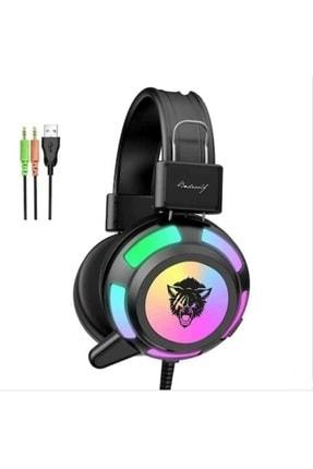 BLUPPLE V8 Mikrofonlu Oyuncu Gaming Gamer Kulaklığı Yeni Rgb Led Işıklı Kulaklık Bilgisayar Uyumlu