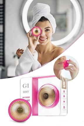 xolo Gi Mask Ultrasonik Maske Uygulama Cihazı Işık Terapi Akıllı Peeling Fuşya Yüz Maske Masaj Cihazı