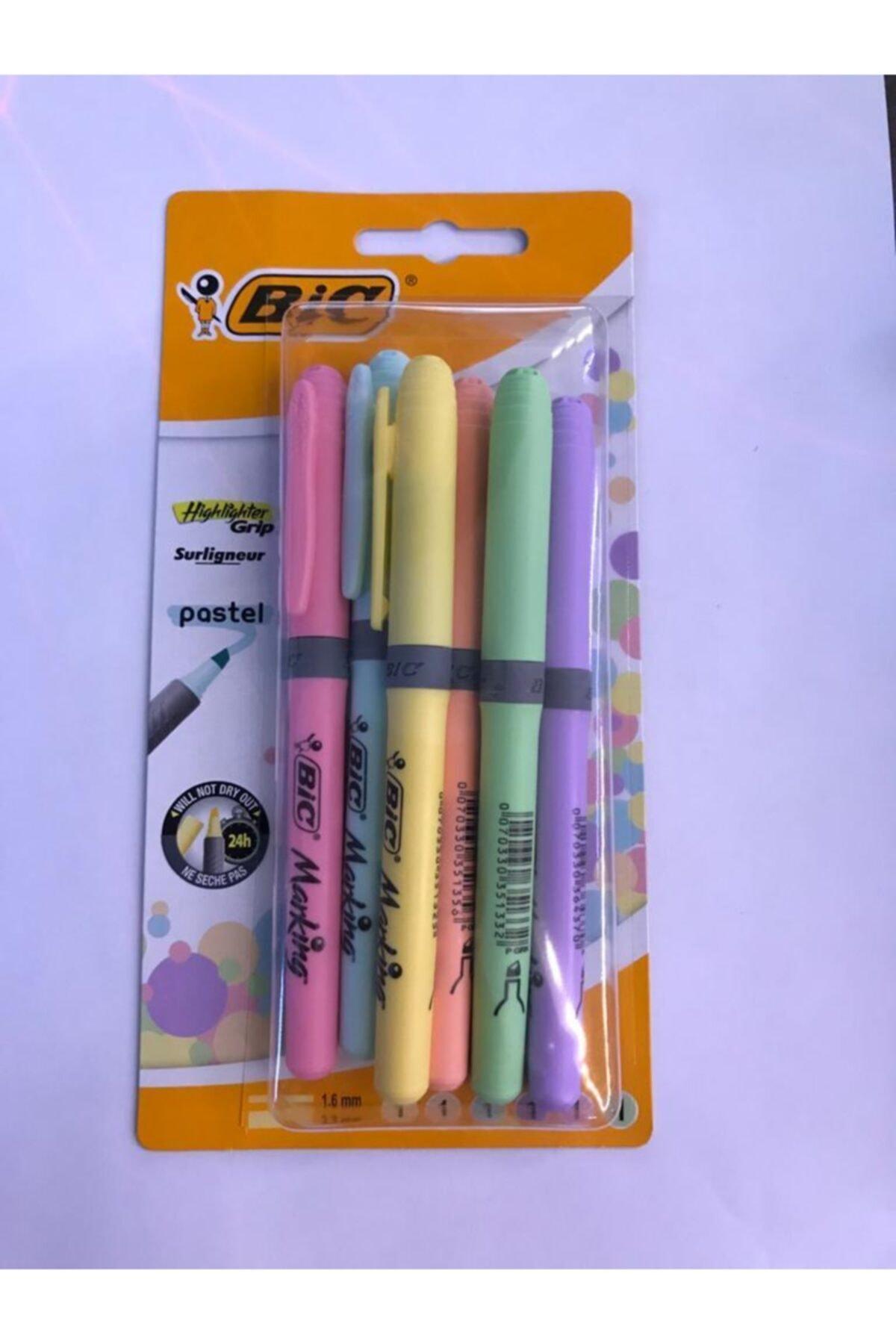 Bic Kalem Tipi Fosforlu Kalem Pastel Renk 6'lı 2