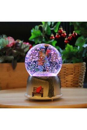 oxo accessories Romantik Aşıklar Işıklı Müzikli Kar Motorlu Kar Küresi
