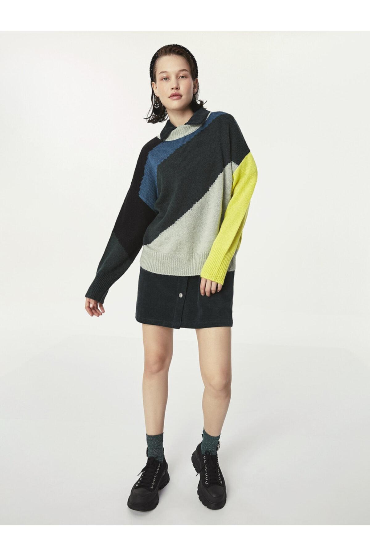 Twist Renkli Örme Kazak 1