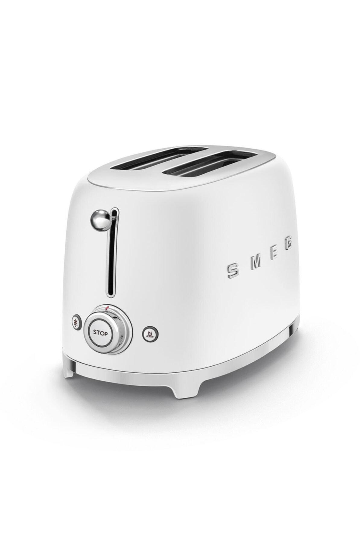 SMEG Mat Beyaz Retro 2x1 Ekmek Kızartma Makinesi 2