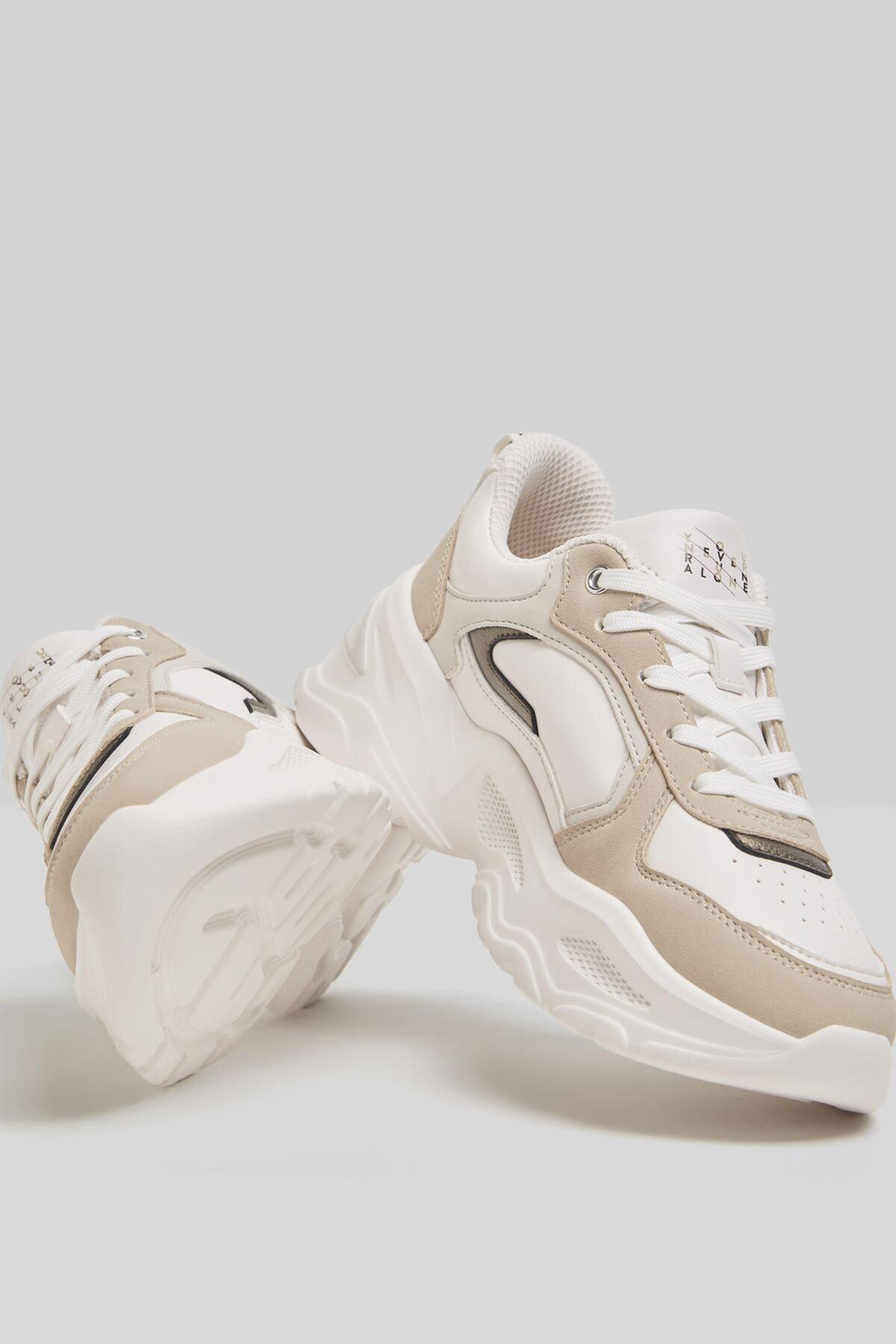 Bershka Kontrast Kalın Tabanlı Spor Ayakkabı 2
