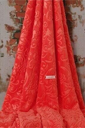 Merinos Elegans Embos Vizon Çift Kişilik Battaniye Kırmızı