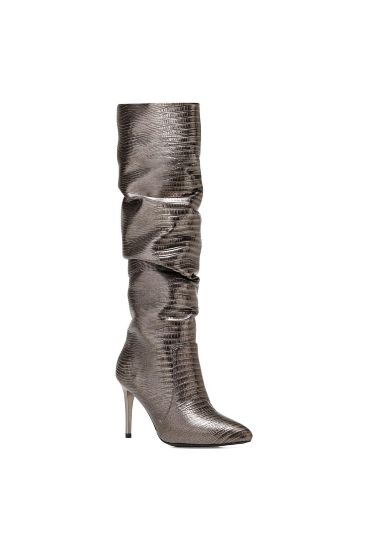Nine West Sısso2 Antrasit Kadın Ökçeli Çizme 2