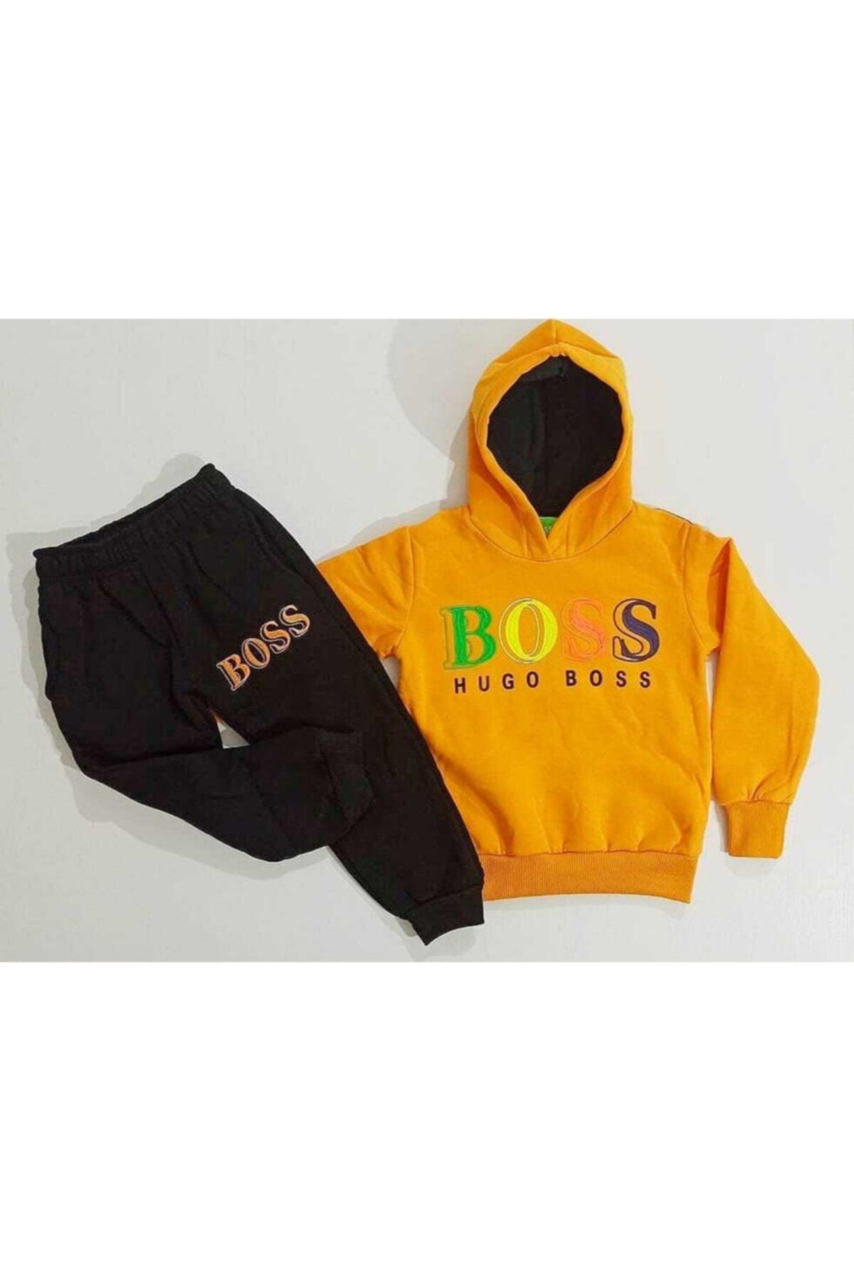kidstime Unisex Sarı Boss 2'li Takım 1