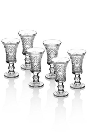 Queen's Kitchen 6 Adet Kristal Kesme Lüx Kahve Yanı Su