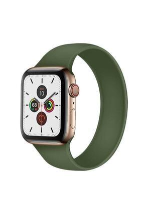 zore Apple Watch 44mm Tek Parça Mat Renk Solo Loop Large Kordon-yeşil