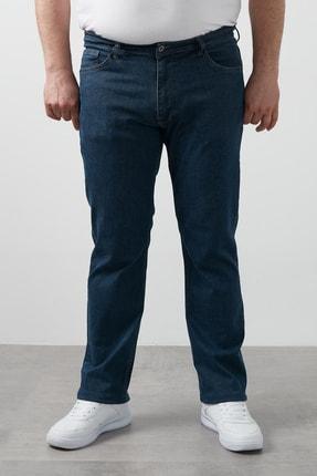 Buratti Erkek Koyu Mavi Regular Fit Pamuklu Büyük Beden Kot Pantolon 7280f138jeff
