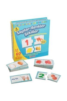 DIY Toys Dıy-toy Eğlenceli Bulmaca Sayılar Renkler Şekiller Puzzle 1444