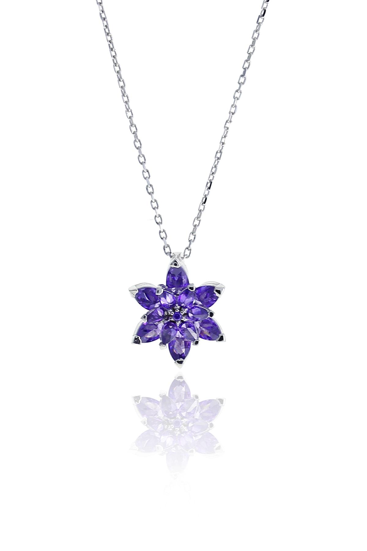 Sümer Telkari Lotus Çiçeği Tasarım Gümüş Kolye 6927 1