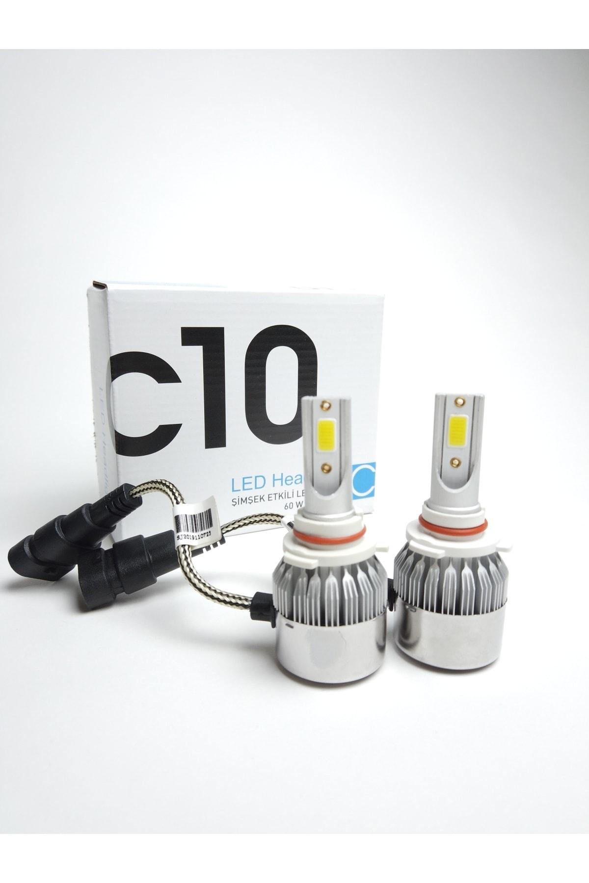 C10 H4 Led Xenon Soğurma Fanlı Led Zenon Far Ampulü Yeni Nesil Şimşek Etkili 1