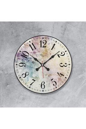 Revello Çok Renkli Görsel Tasarım Bombeli Duvar Saati