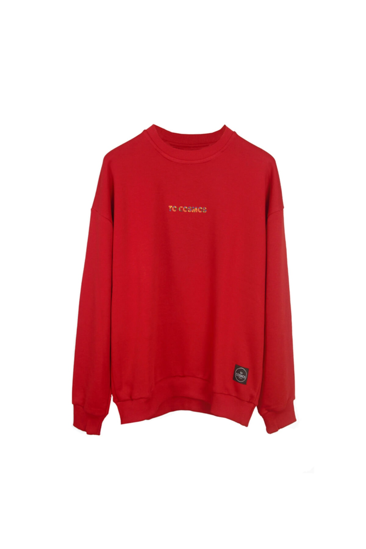 to COSMOS Oversıze Sweatshırt Unısex Renk Kırmızı Cosmos 1