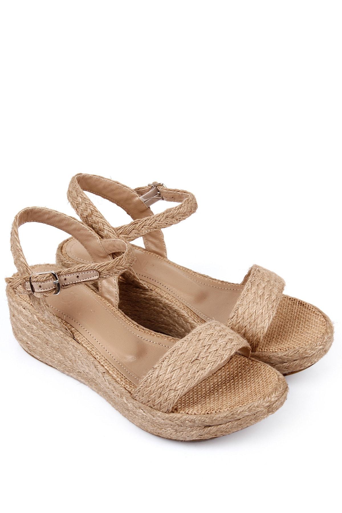GÖNDERİ(R) Kadın Hasır Sandalet 35771 2