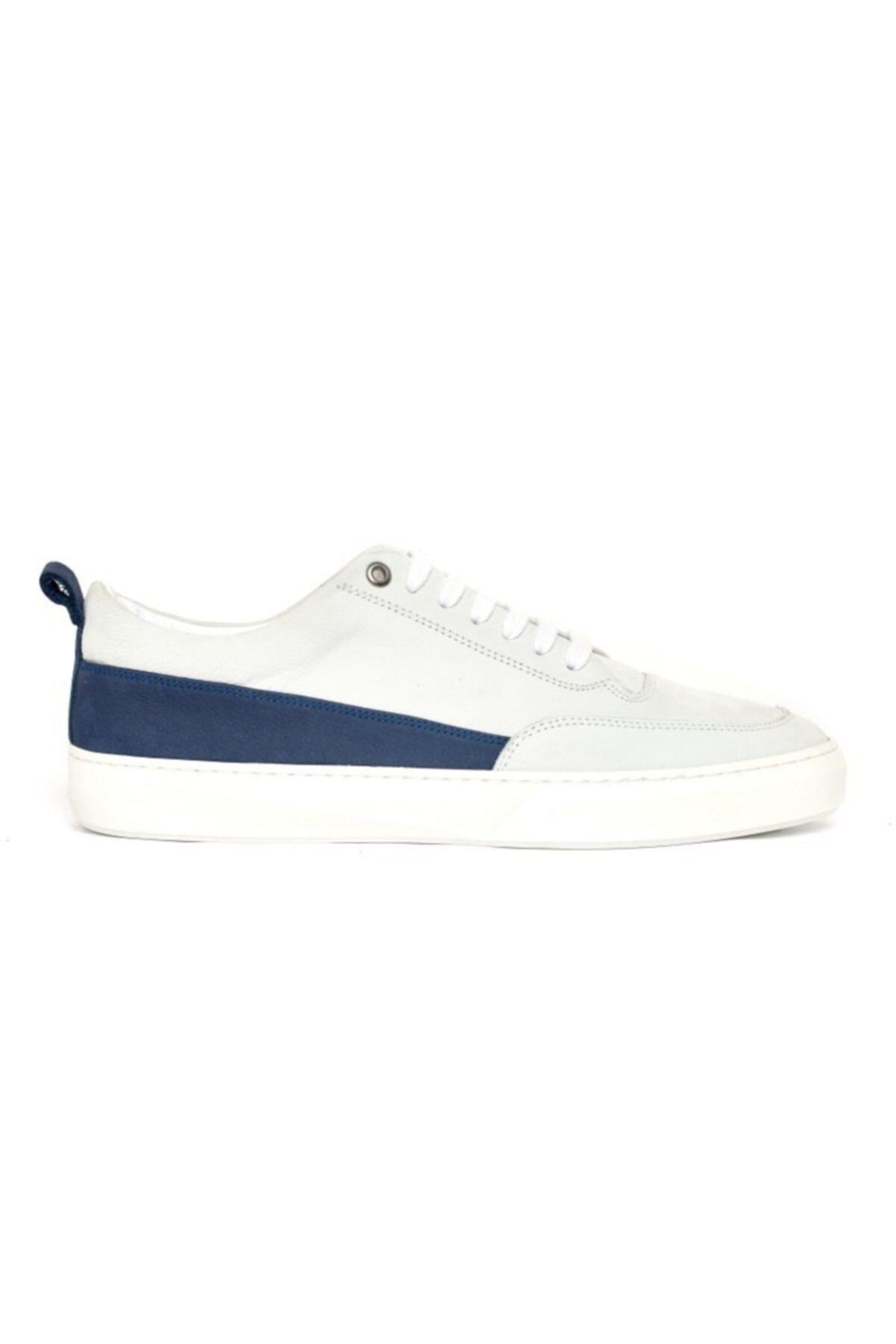 Giovane Gentile Erkek Beyaz Bağcıklı Sneaker 1